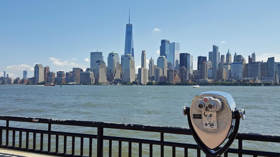 Download Free Stock HD Photo of Tourist View of Lower Manhattan Online