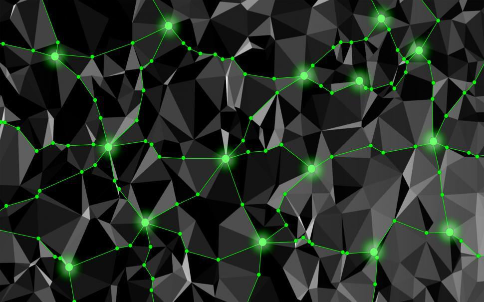 Download Free Stock HD Photo of Abstract Network with Delaunay Triangles Online