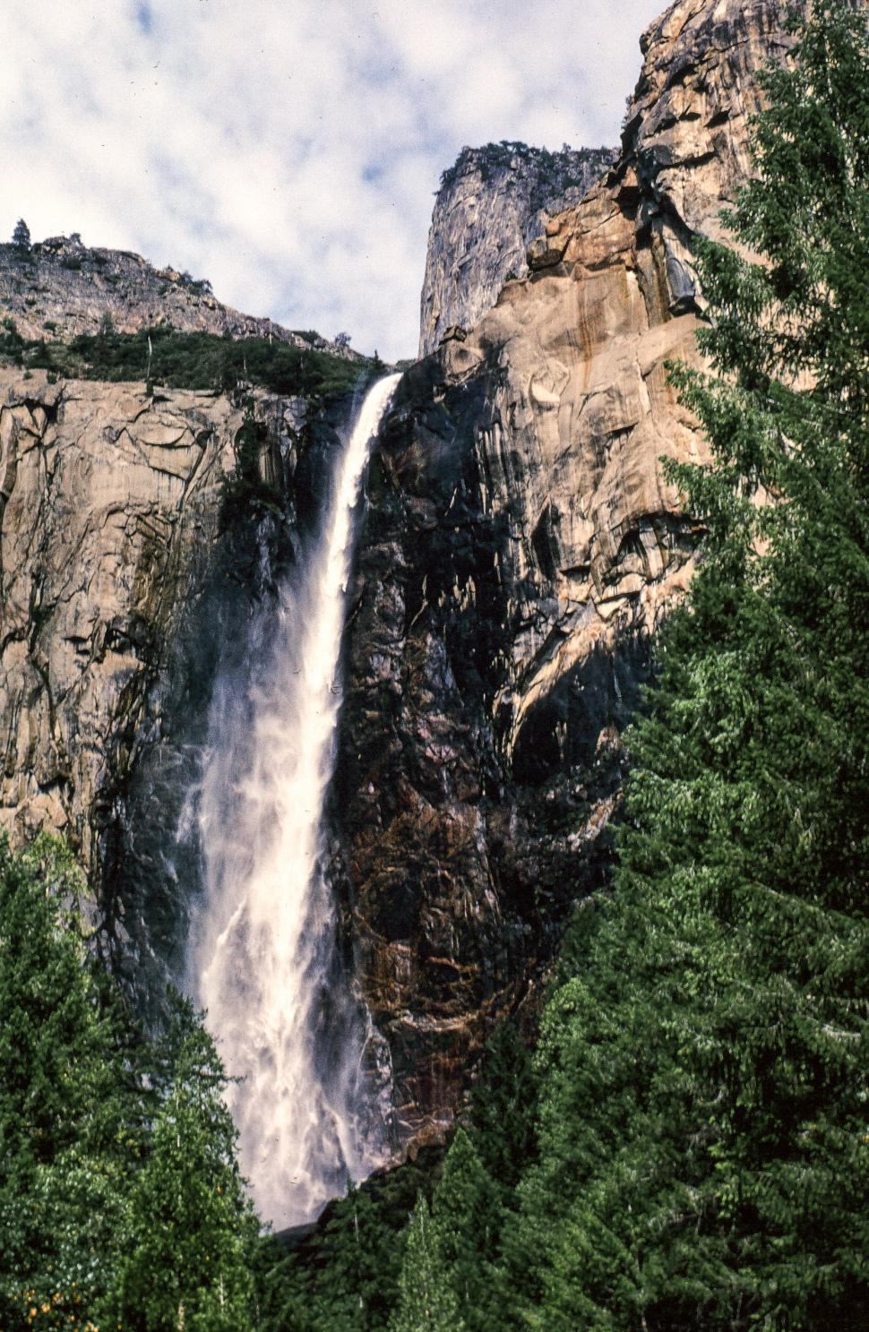 Download Free Stock HD Photo of Yosemite Falls Vintage Photo Online