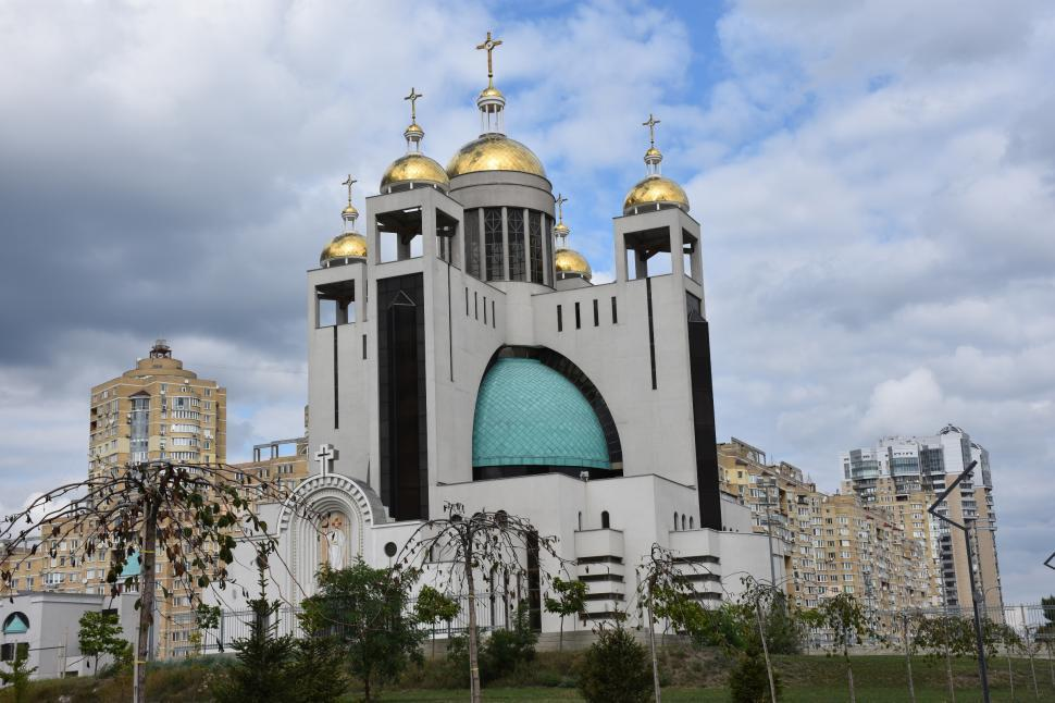 Download Free Stock HD Photo of Patriarchal Cathedral of the Resurrection of Christ. Ukrainian Greek Catholic Church in Kyiv, Ukraine Online