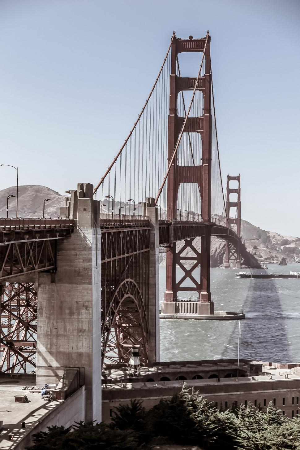 Download Free Stock HD Photo of Golden Gate Bridge Spans the Bay Online