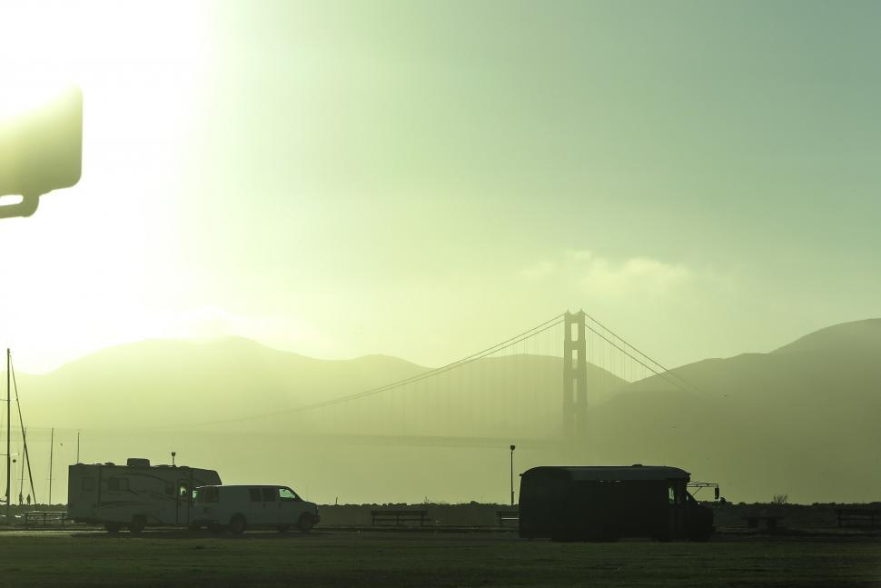 Download Free Stock HD Photo of Haze over the Golden Gate Online