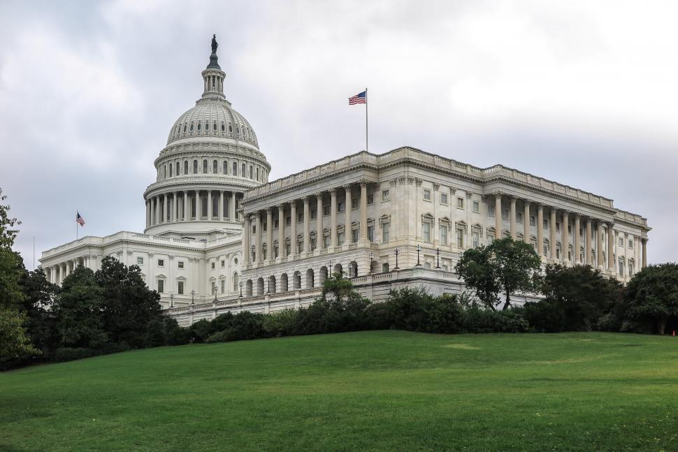 Download Free Stock HD Photo of Capitol Hill - Green Grass with US Capitol Online