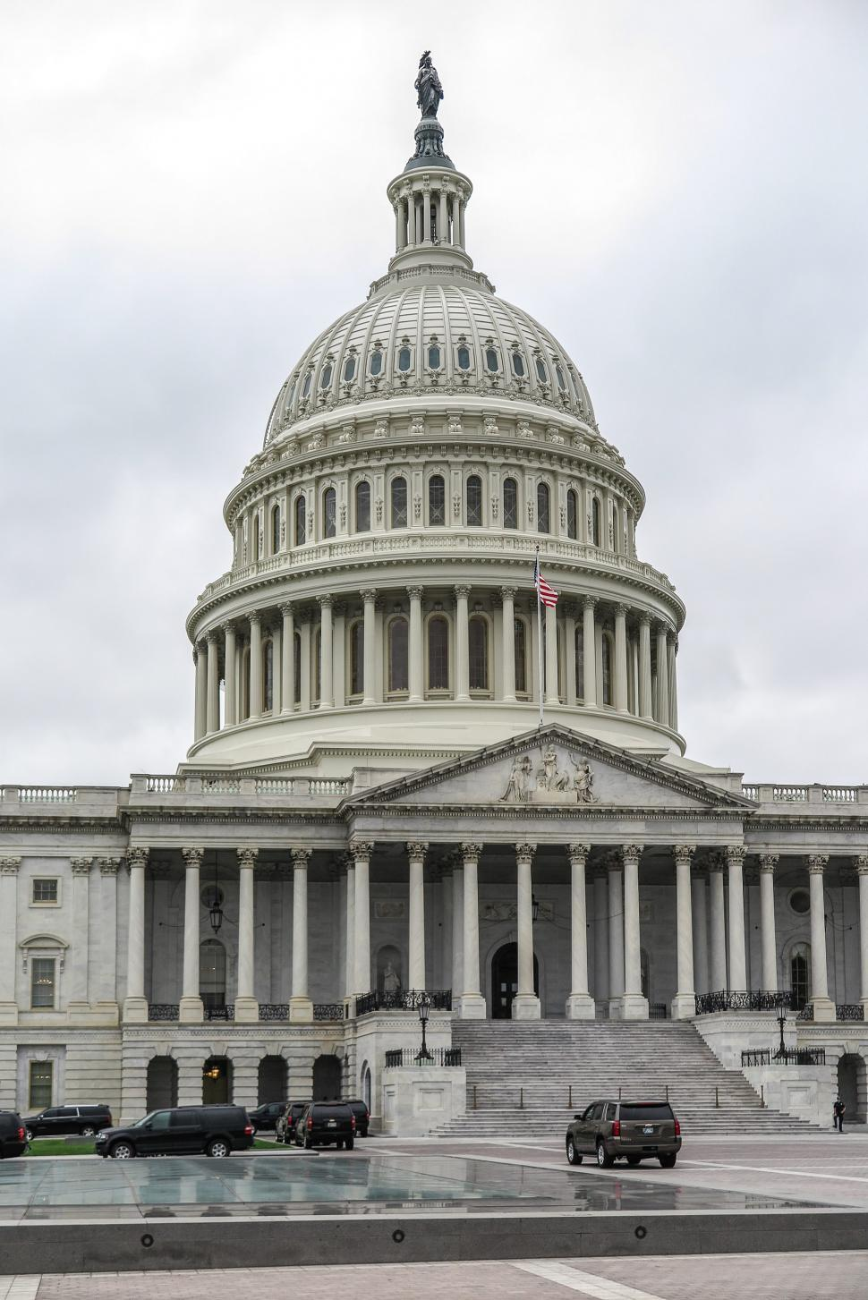 Download Free Stock HD Photo of Dome and SUVs at US Captiol Online