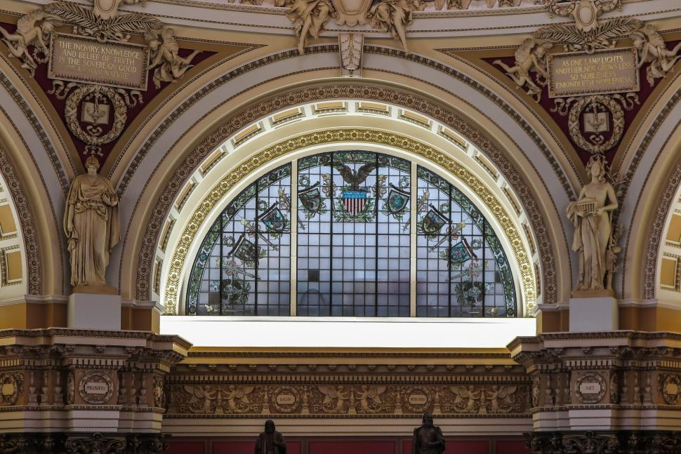Download Free Stock HD Photo of Detail in Library of Congress Reading Room Online