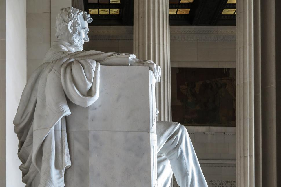 Download Free Stock HD Photo of Side view of Abraham Lincoln statue, Lincoln Memorial Online