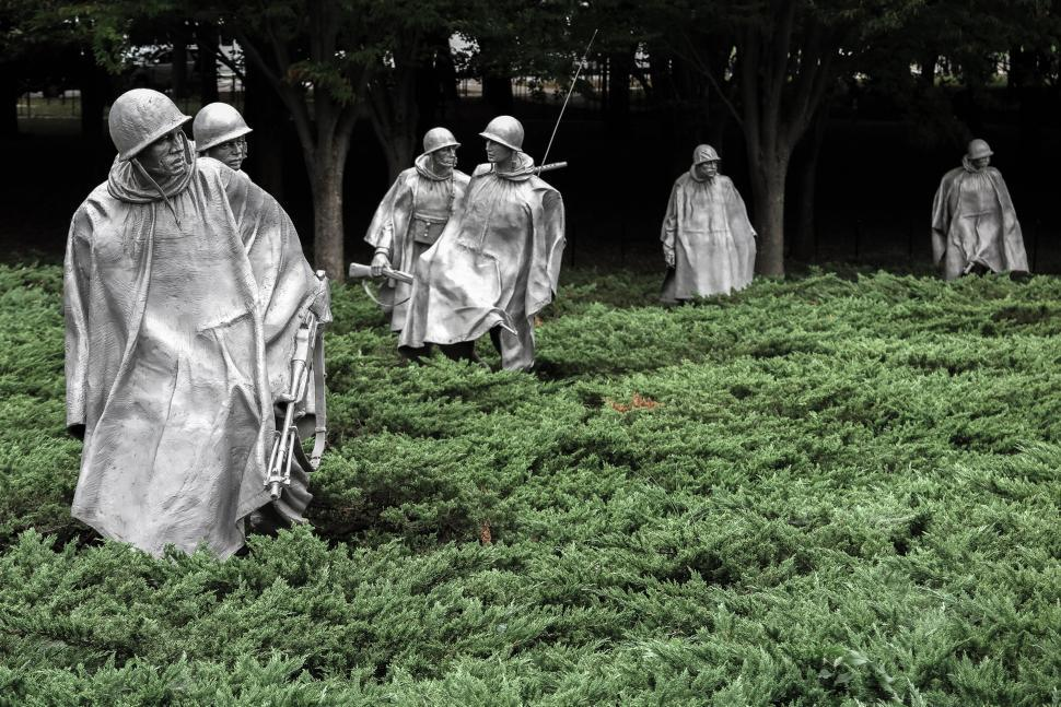 Download Free Stock HD Photo of Soldiers, Korean War Memorial Monument Online