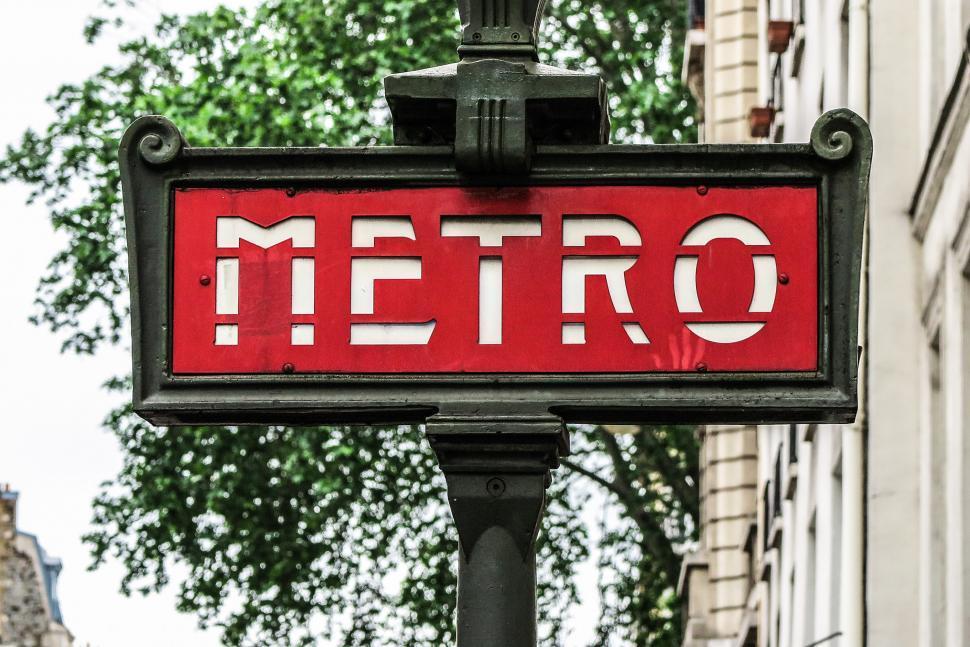 Download Free Stock HD Photo of Paris Metro Sign Online