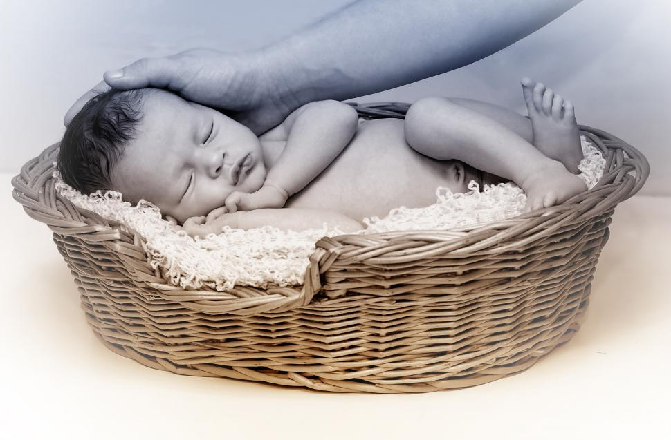 Download Free Stock HD Photo of Newborn Baby Sleeping - Smooth Colors Online