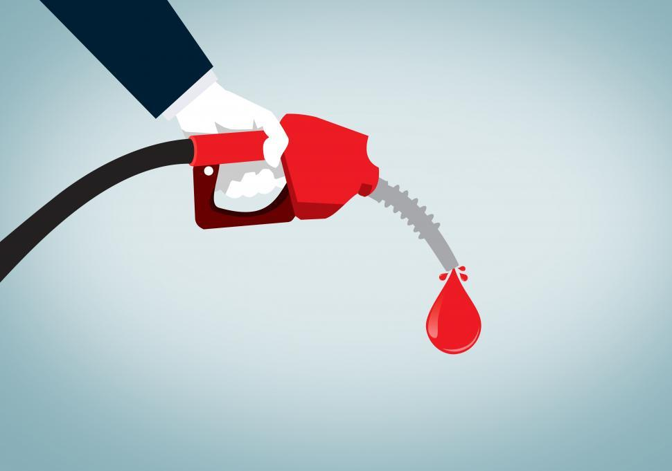 Download Free Stock HD Photo of Hand Holding Red Nozzle Pumping Gas - Fossil Fuel - Oil and Petr Online