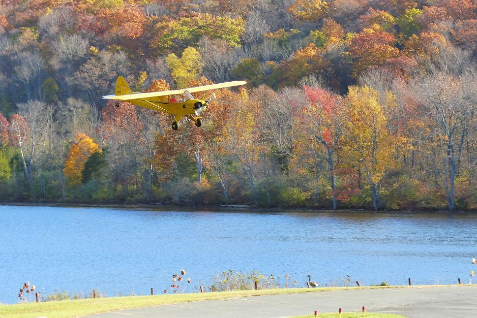 Download Free Stock HD Photo of Piper Cub In For Landing Online