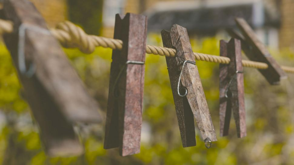 Download Free Stock HD Photo of Wooden Clips Online