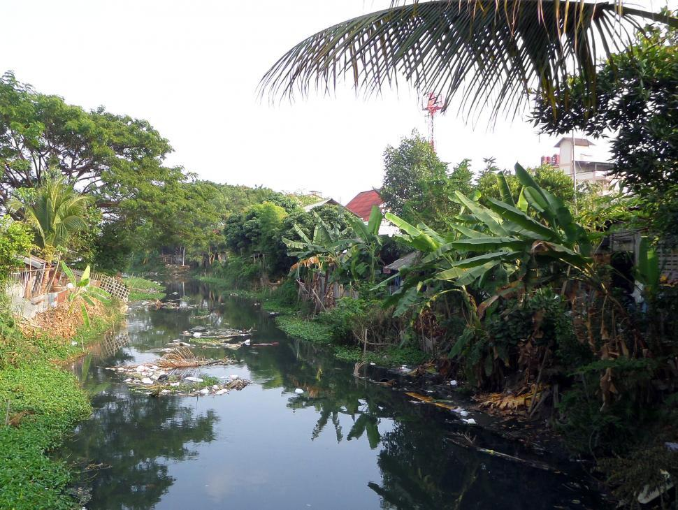 Download Free Stock HD Photo of Polluted Thai canal Online