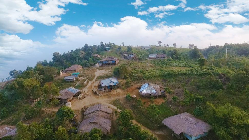 Download Free Stock HD Photo of Village on a Hill Online