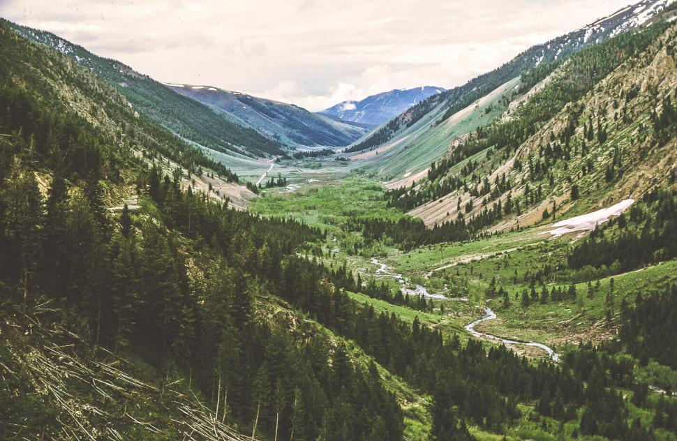 Free image of View of Mountain valley