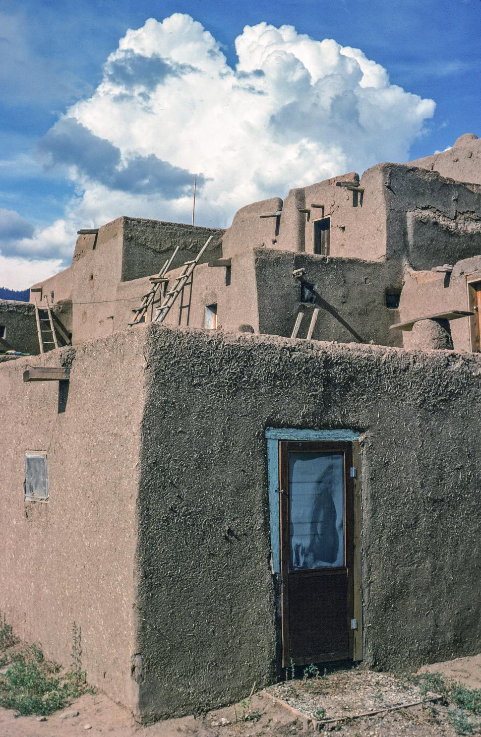 Download Free Stock HD Photo of Pueblo house door Online