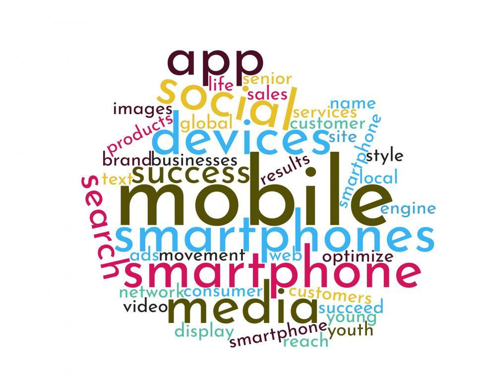 download free stock hd photo of mobile device word cloud online