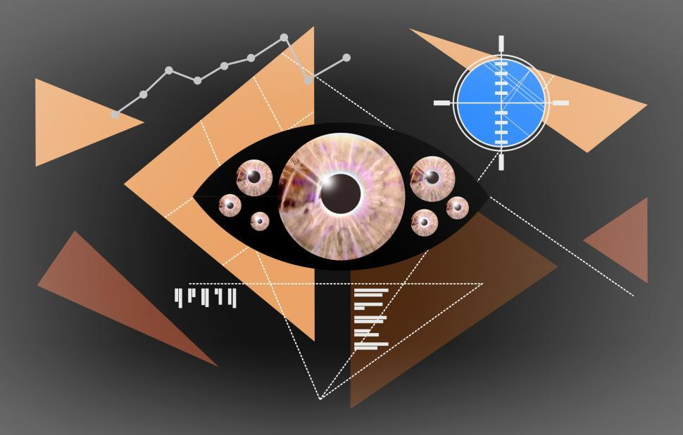 Download Free Stock HD Photo of Eyes - Abstract Concept - Biometric Recognition - Dark Online