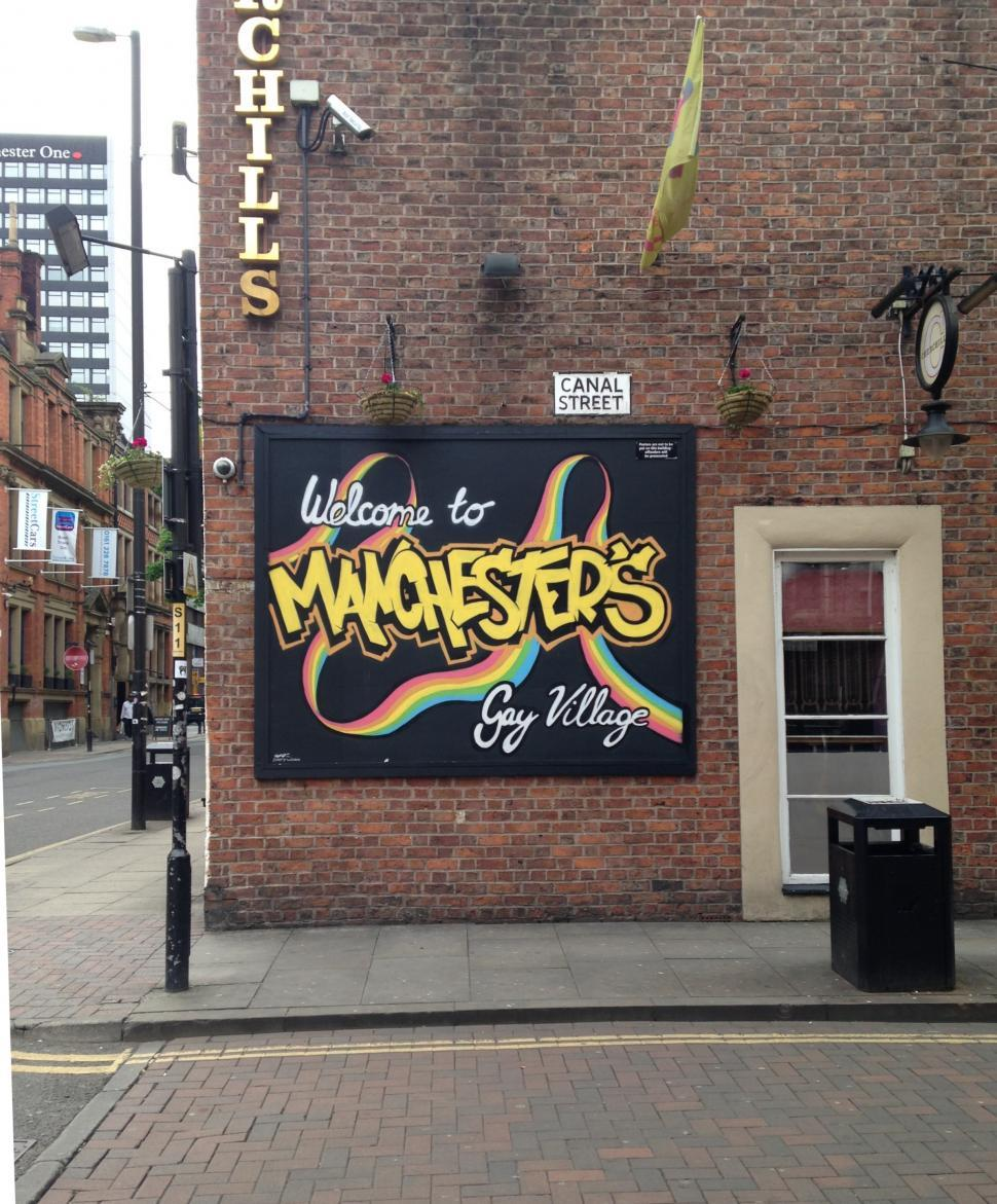 Download Free Stock HD Photo of Canal Street Artwork, Manchester UK  Online