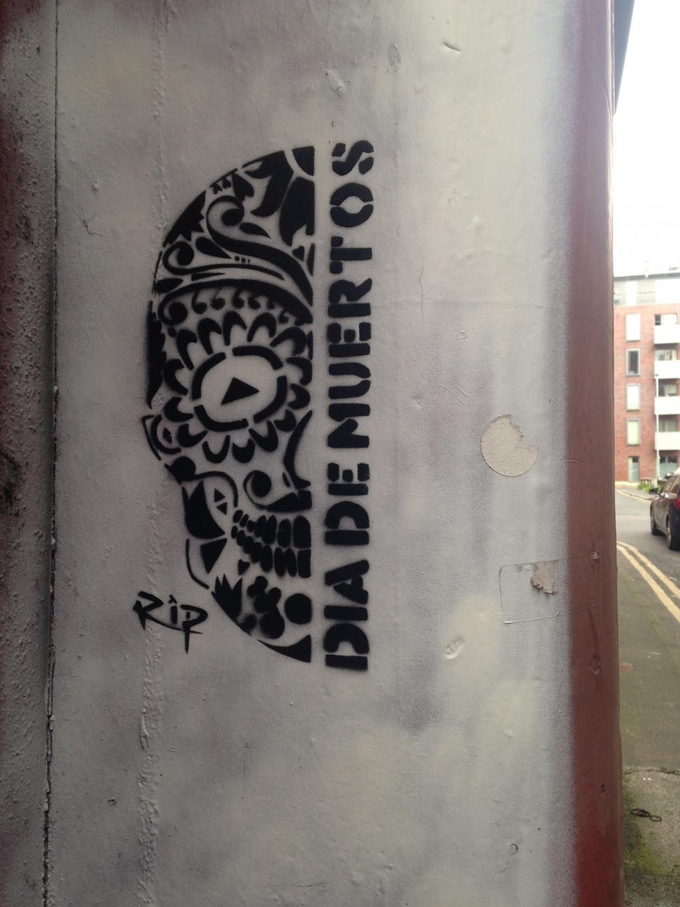 Download Free Stock HD Photo of Dia De Muertos Stencil  Online