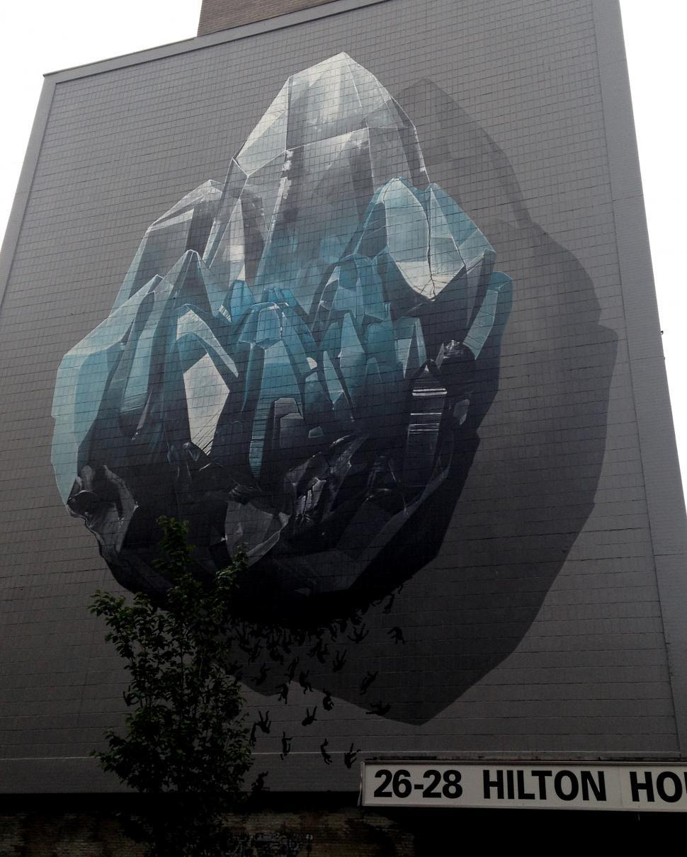 Download Free Stock HD Photo of Huge Artwork on Hilton House, Manchester  Online