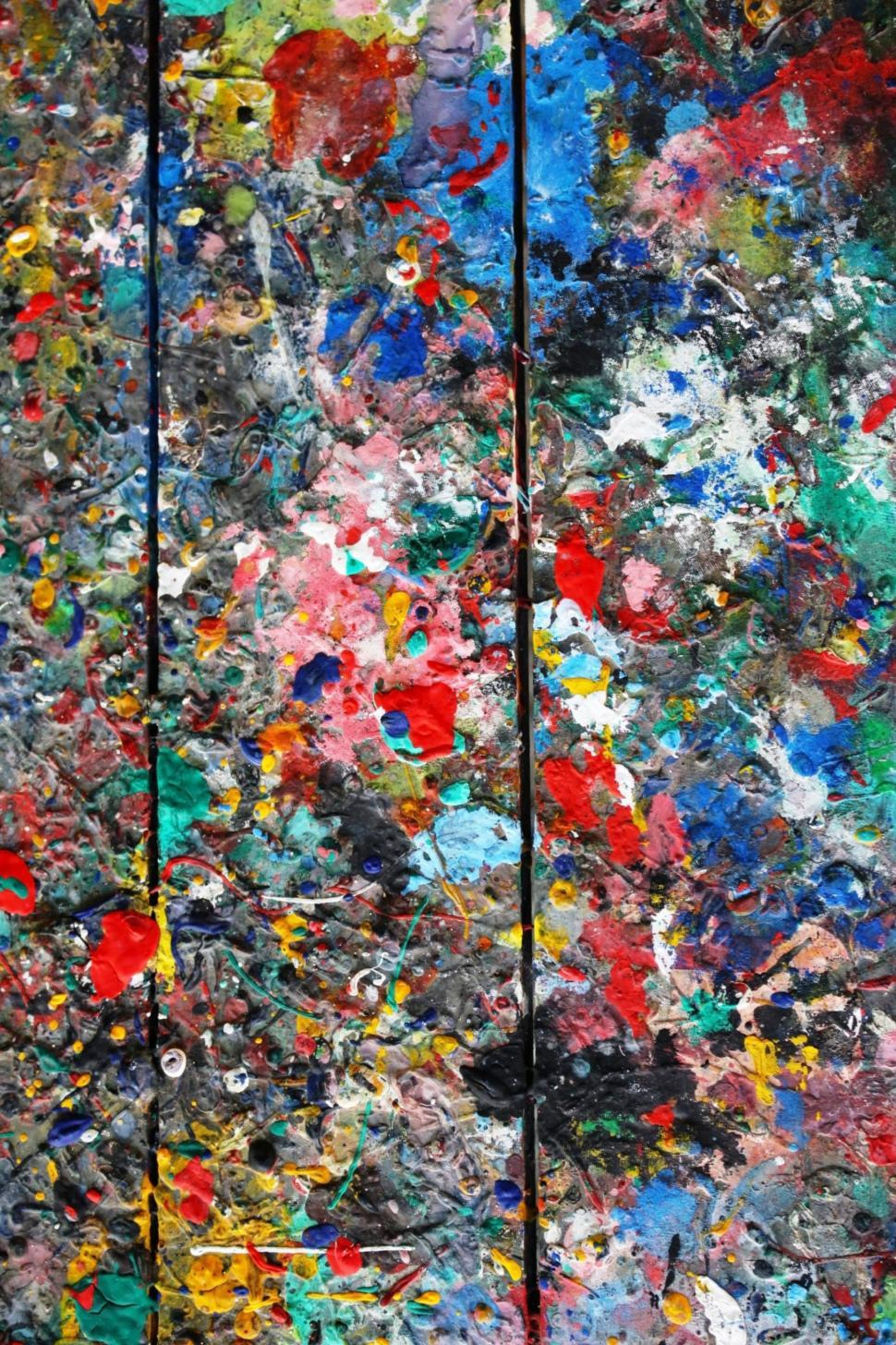 Download Free Stock HD Photo of Messy colorful artists palette  Online