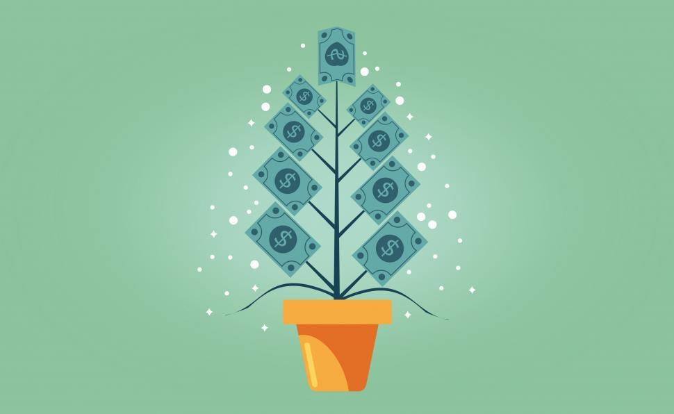 Download Free Stock HD Photo of Money Growing on a Tree - Capital Appreciation Concept Online