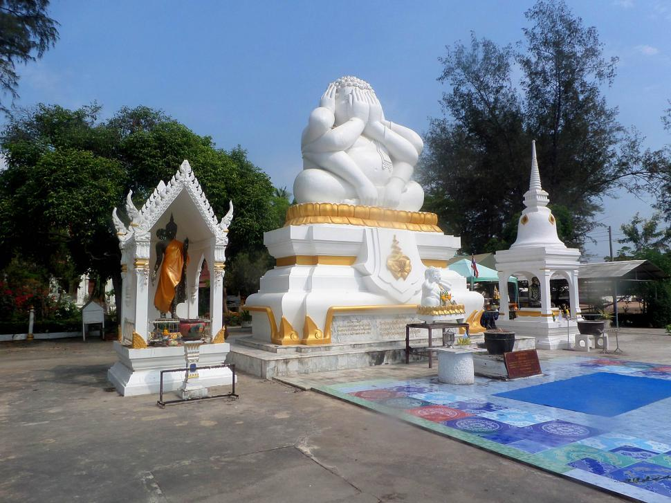 Download Free Stock HD Photo of The Six Armed Buddha of Cha Am, Thailand Online