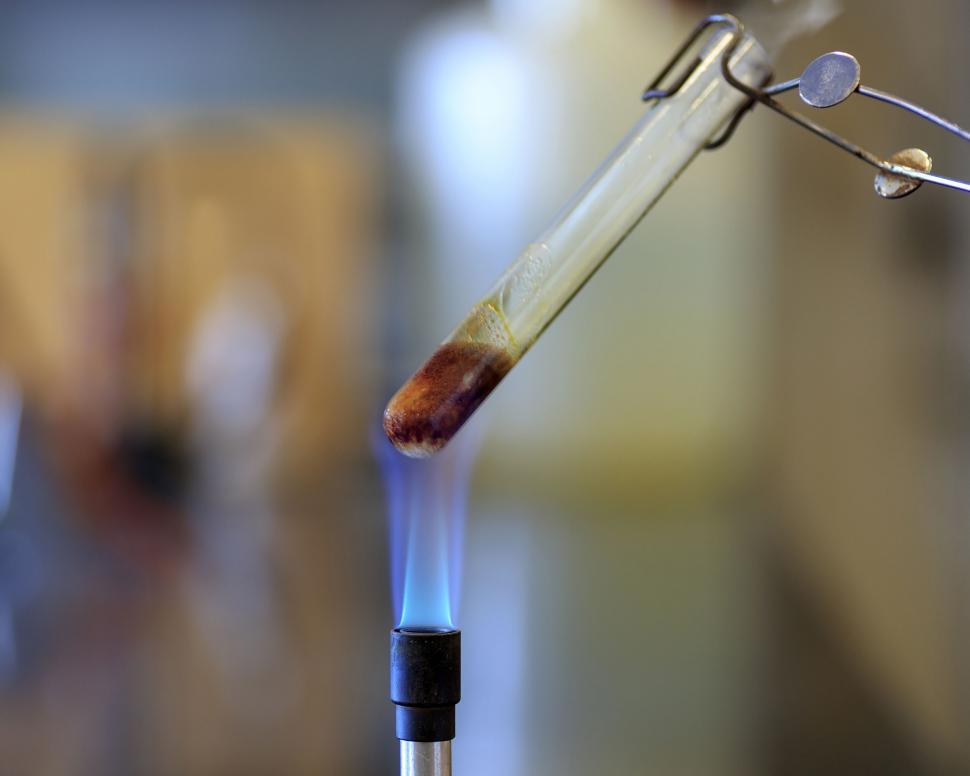 Download Free Stock HD Photo of Test tube containing sucrose Online