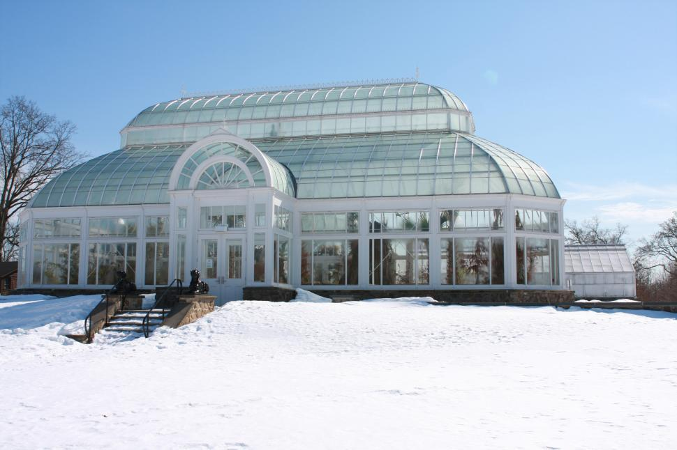 Download Free Stock HD Photo of Orchid Greenhouse in the Snow Online