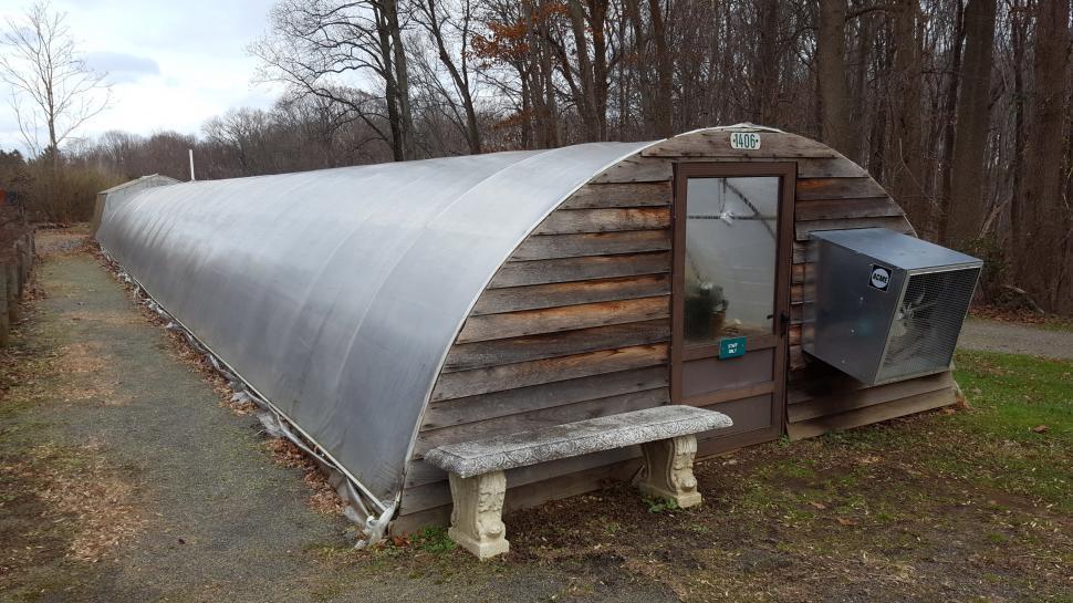 Download Free Stock HD Photo of Greenhouse with Wooden Door Online