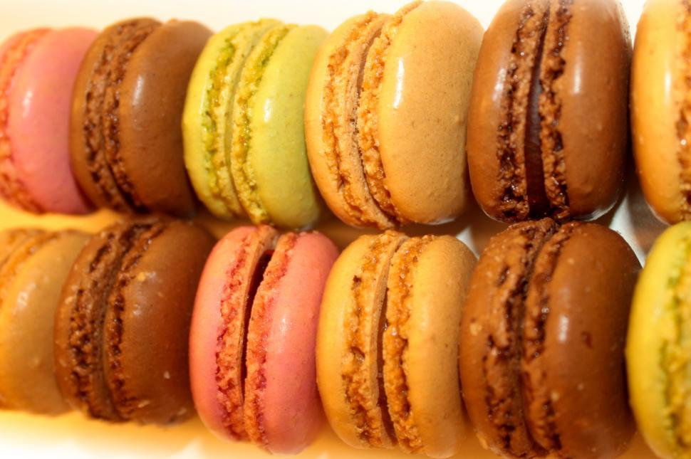 Download Free Stock HD Photo of Sweets and Cookies - Rows of French Macaroons Online