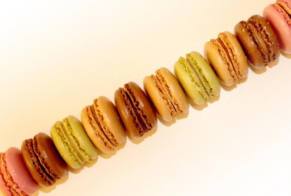 Download Free Stock HD Photo of Top View of French Macaroons - Sweets and Cookies Online