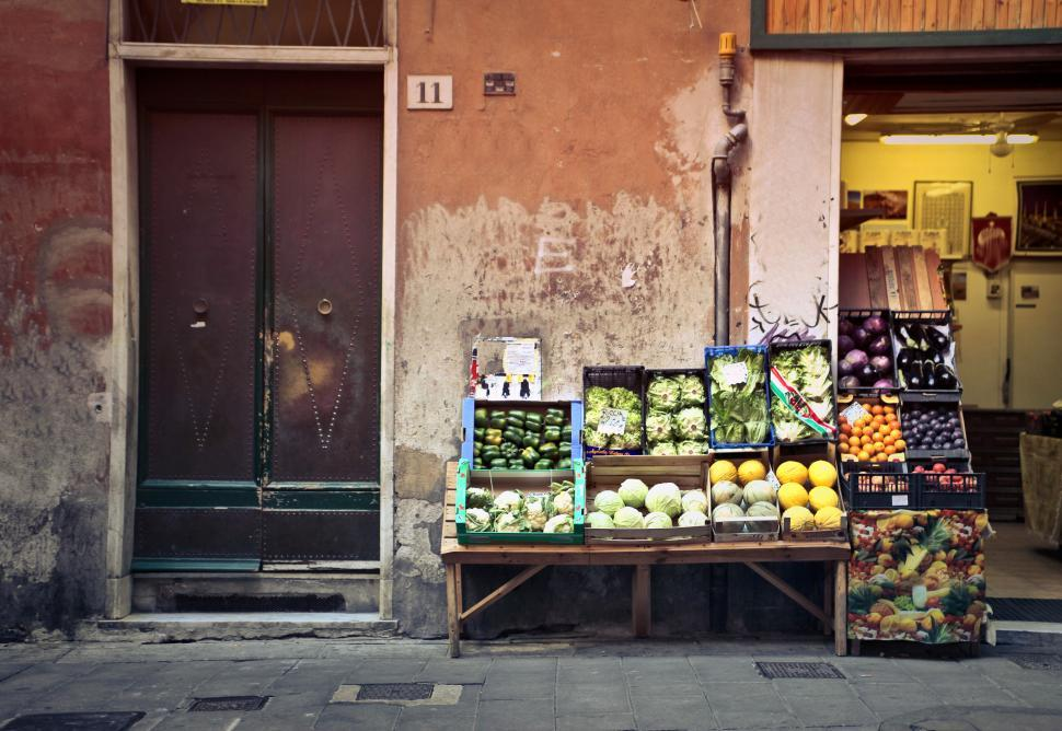 Download Free Stock HD Photo of Traditional grocery store selling fruit and vegetable Online