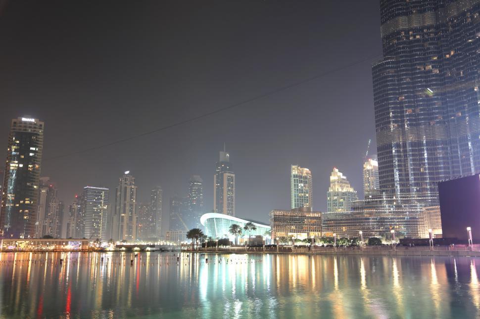 Download Free Stock HD Photo of Night View Of Burj Khalifa Online