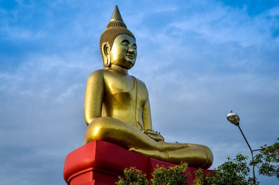 Download Free Stock HD Photo of buddha Statue in gold Online