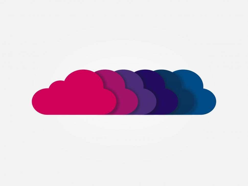 Get Free Stock Photos of Digital Clouds in a Row Online