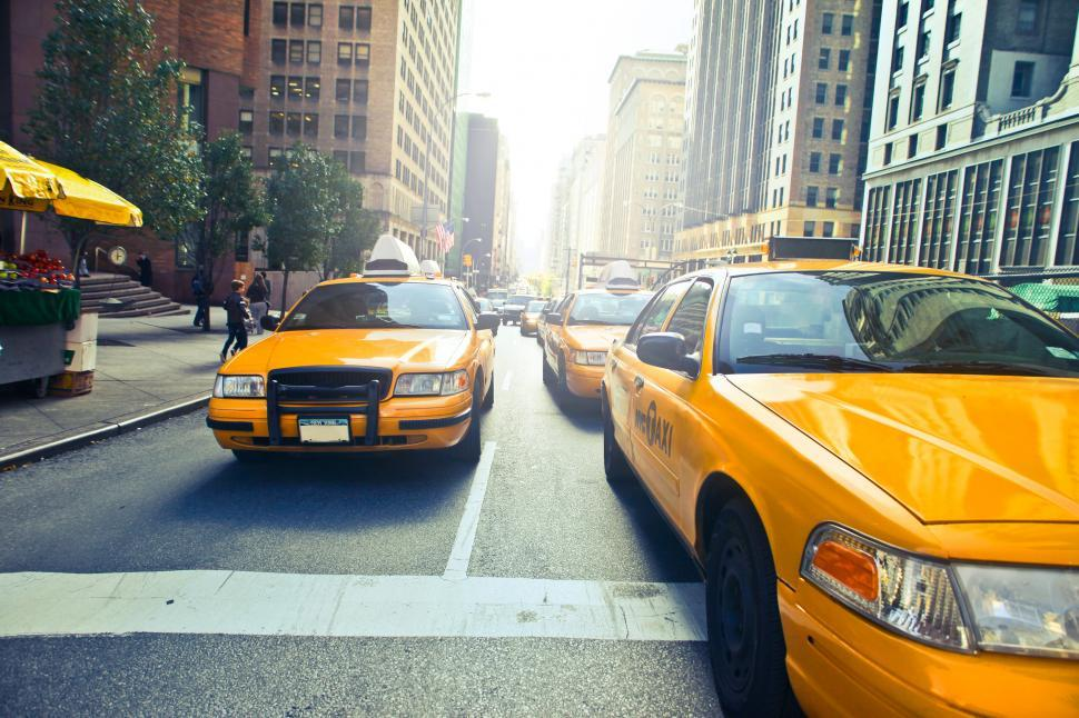 Download Free Stock HD Photo of Yellow Taxis In New York City Online