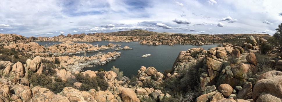 Download Free Stock HD Photo of Panorama of Watson Lake, Prescott, Arizona Online