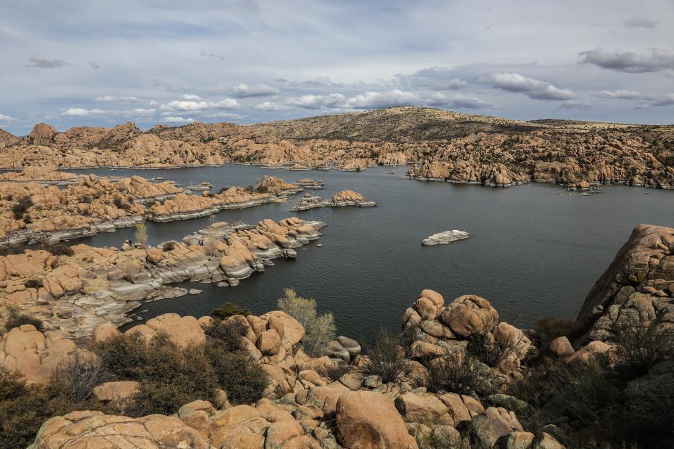 Download Free Stock HD Photo of Watson Lake rocks Online