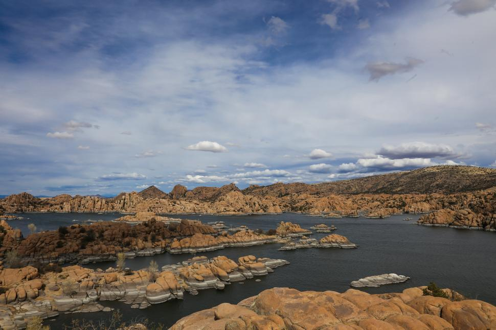 Download Free Stock HD Photo of Sun and shadows moving across Watson Lake Online
