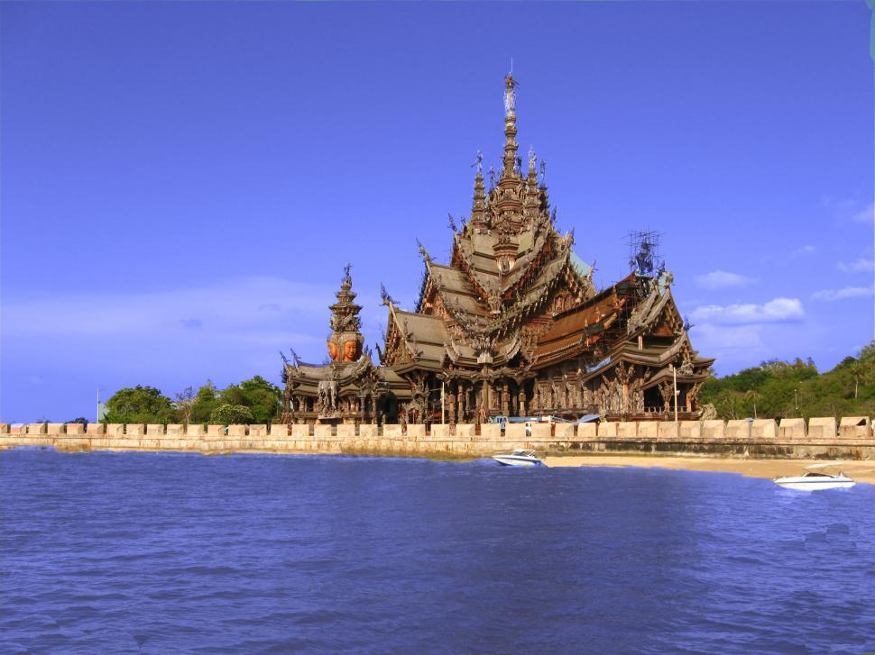 Download Free Stock HD Photo of sanctuary of truth in thailand Online
