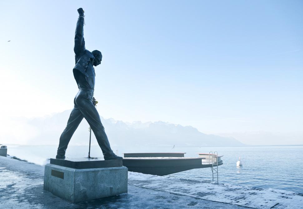 Download Free Stock HD Photo of Freddie Mercury bronze statue Montreux Switzerland Online