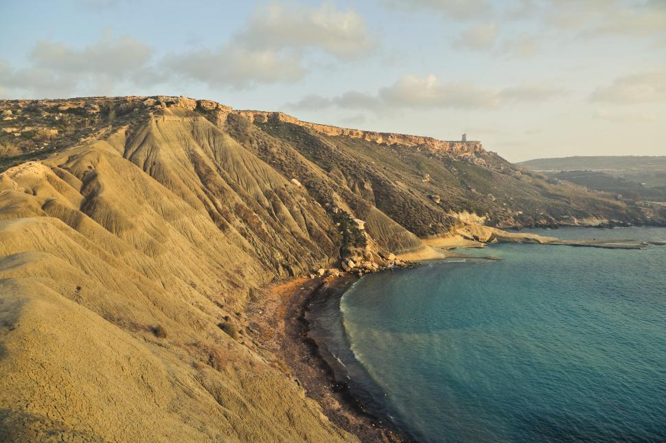 Download Free Stock HD Photo of Golden Bay Mellieha Malta Online