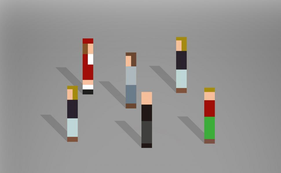 Download Free Stock HD Photo of Abstract Pixelated People Passing By Online