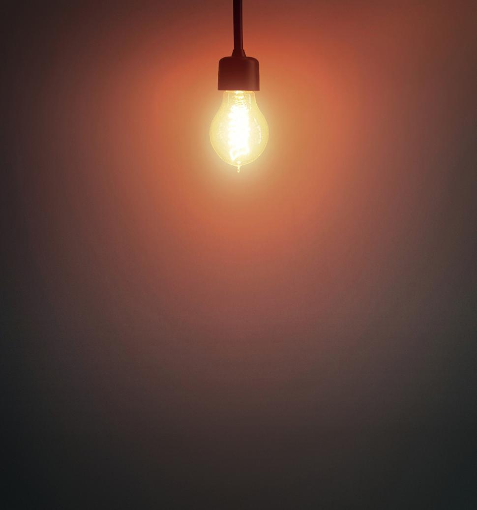 Download Free Stock HD Photo of Light Bulb - Top Position - With Copyspace Online