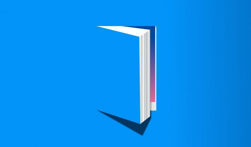Download Free Stock HD Photo of Open Book - Knowledge and Reading Concept - Blue Version Online