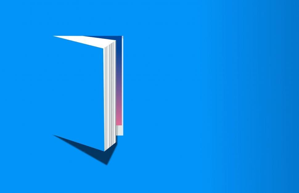 Download Free Stock HD Photo of Open Book on Blue Background - Knowledge and Reading Concept - With Copyspace Online