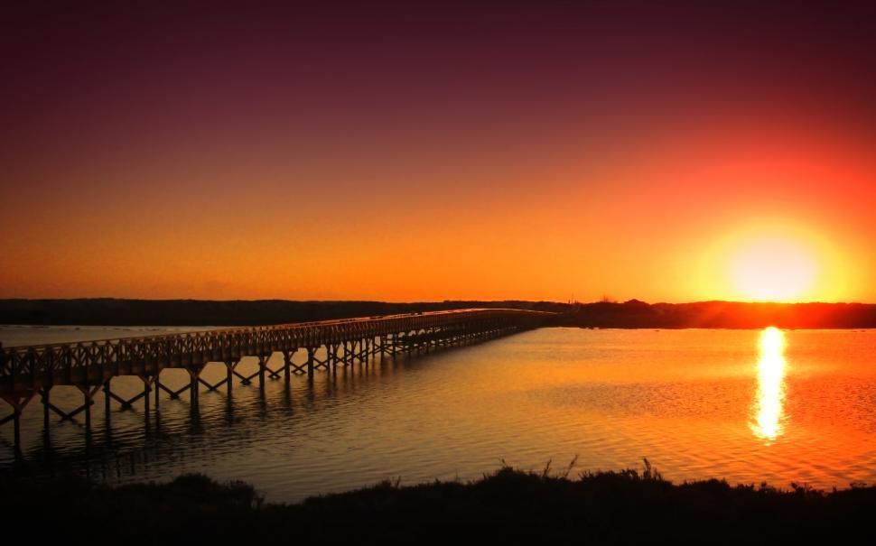 Download Free Stock HD Photo of Sunset - Quinta do Lago - Ria Formosa Natural Park - Algarve - P Online