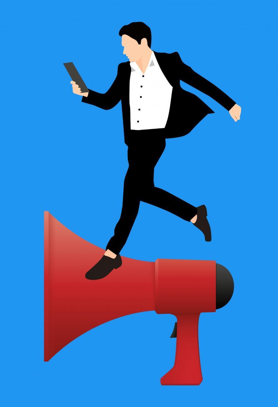 Download Free Stock HD Photo of marketing seo Megaphone  Online